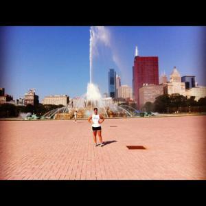 Run to Buckingham Fountain -- 14 miles total