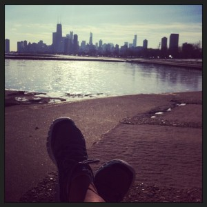 Despite the 30 degree Chicago weather, I toughed it out for a nice run along the lake!  So worth it!