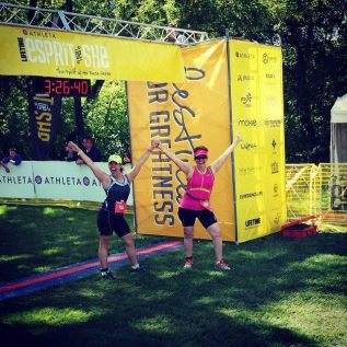 My mom & I after completing the Esprit de She triathlon in Naperville, Illinois.