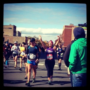 Running the 2012 Chicago Marathon.